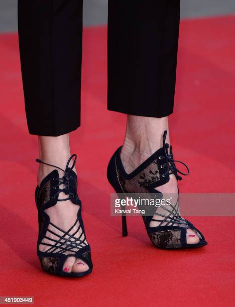 Elizabeth McGovern attends the preview of The Glamour of Italian Fashion exhibition at the Victoria Albert Museum on April 1 2014 in London England