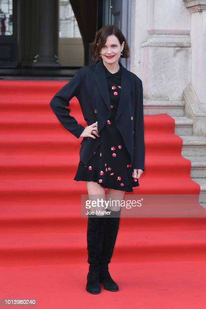 Elizabeth McGovern attends the UK Premiere of 'The Wife' at Somerset House on August 9 2018 in London England