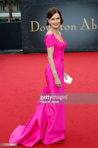 """Elizabeth McGovern attends the World Premiere of """"Downton Abbey"""" at Cineworld Leicester Square on September 09, 2019 in London, England."""