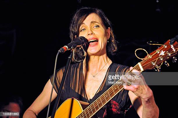 Elizabeth McGovern of Sadie and the Hotheads performs on the first night of their November residency at The Troubadour on November 6, 2012 in London,...
