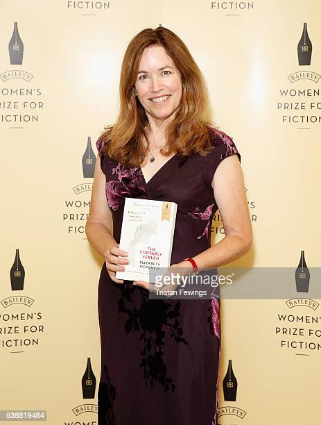 Elizabeth McKennzie shortlisted for the 2016 Baileys Women's Prize for Fiction for The Portable Veblen ahead of the winner announcement at the Royal...