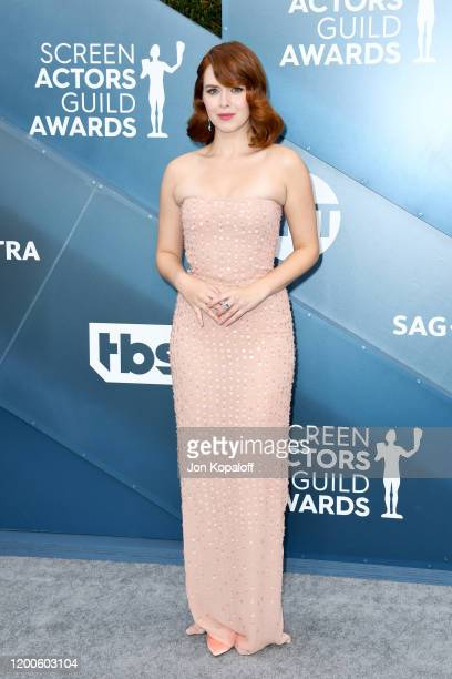 Elizabeth McLaughlin attends the 26th Annual Screen ActorsGuild Awards at The Shrine Auditorium on January 19 2020 in Los Angeles California