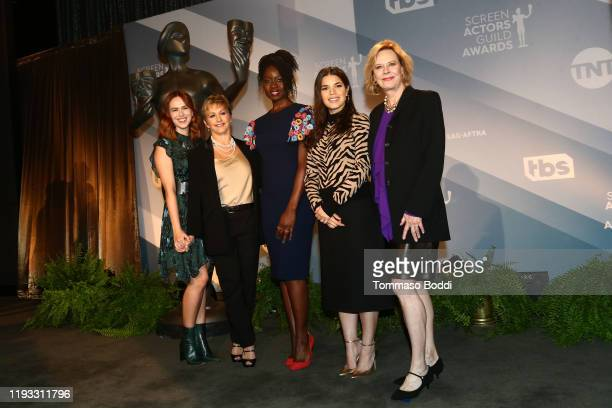 Elizabeth McLaughlin, SAG-AFTRA President Gabrielle Carteris, Danai Gurira, America Ferrera and JoBeth Williams attend the 26th Annual Screen Actors...