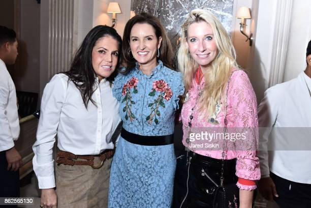 Elizabeth Meigher Alexia Hamm Ryan and Mary Snow attend QUEST VHERNIER Host Luncheon at MAJORELLE at Majorelle on October 17 2017 in New York City
