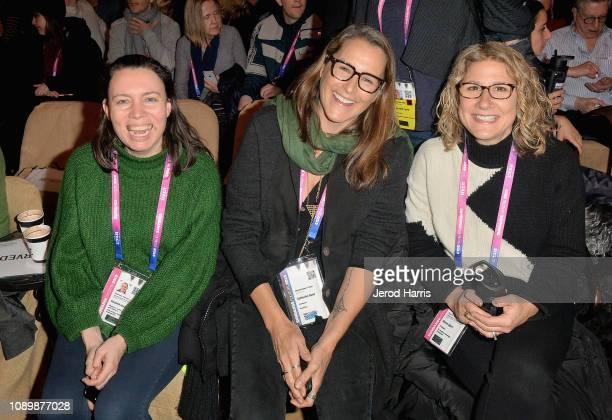 Elizabeth Mendez Berry Catherine Gund and Sharon Alpert attend the Can Art Save Democracy Panel during the 2019 Sundance Film Festival at Filmmaker...