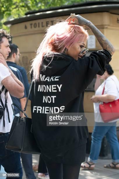 Elizabeth Minto Das during London Fashion Week Men's on June 10 2018 in London England