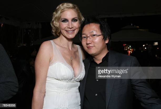 LOS ANGELES CA DECEMBER 09 Elizabeth Mitchell and Masi Oka at The Hollywood Life Breakthrough of the Year Awards After Party held at The Henry Fonda...