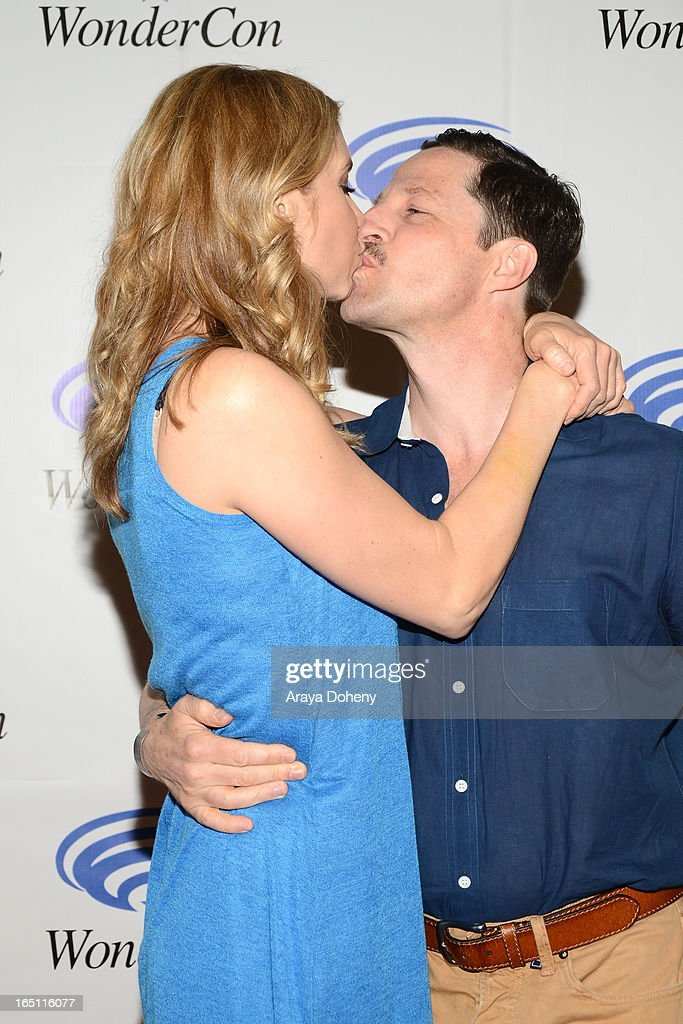 Elizabeth Mitchell and Tim Guinee attend WonderCon Anaheim 2013 - Day 2 at Anaheim Convention Center on March 30, 2013 in Anaheim, California.