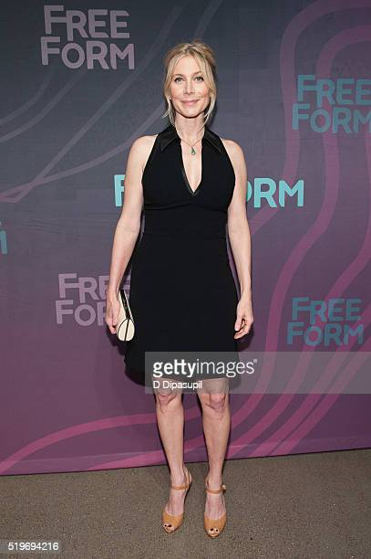Elizabeth Mitchell attends the 2016 ABC Freeform Upfront at Spring Studios on April 7 2016 in New York City
