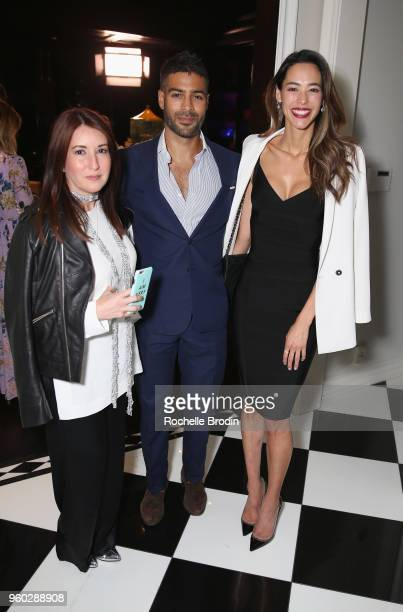 Elizabeth Mitchell Omar Mangalji and Emi Renata attends The Foundation for Living Beauty Dinner Under the Stars on May 19 2018 in Beverly Hills...