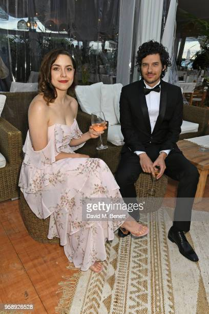 Elizabeth Moroni and Rich Vreeland pose at Nikki Beach for the Under The Silver Lake dinner presented by PerrierJouet at Nikki Beach on May 15 2018...