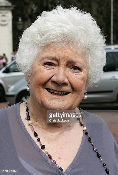 Elizabeth Morris From Ross-On-Wye is seen before attending the Queen's 80th Birthday Lunch on April 19, 2006 at Buckingham Palace in London, England....