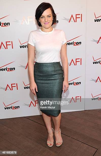 Elizabeth Moss attends the 14th annual AFI Awards Luncheon at Four Seasons Hotel Beverly Hills on January 10 2014 in Beverly Hills California