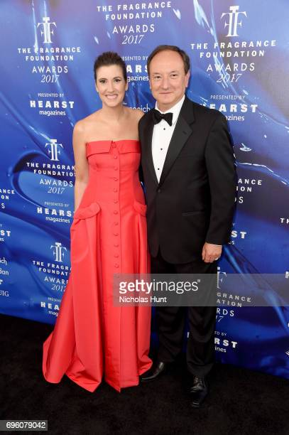 Elizabeth Musmanno and Harry Fremont attend the 2017 Fragrance Foundation Awards Presented By Hearst Magazines at Alice Tully Hall on June 14 2017 in...
