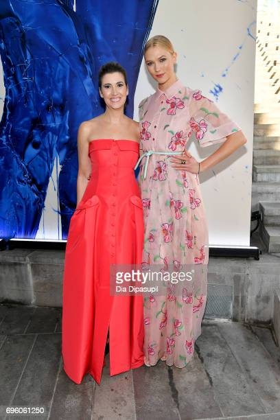 Elizabeth Musmanno and Karlie Kloss attend the 2017 Fragrance Foundation Awards Presented By Hearst Magazines at Alice Tully Hall on June 14 2017 in...