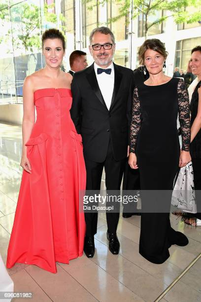Elizabeth Musmanno Marc Puig and his wife attend the 2017 Fragrance Foundation Awards Presented By Hearst Magazines at Alice Tully Hall on June 14...