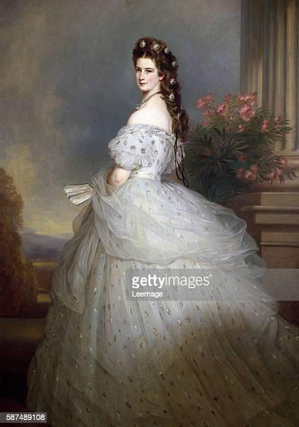 Elizabeth of Bavaria, Empress of Austria by Franz Xavier Winterhalter , Vienna Kunsthistorisches Museum