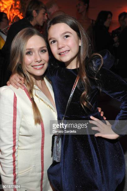 Elizabeth Olsen and Brooklynn Prince attend W Magazine's Celebration of its 'Best Performances' Portfolio and the Golden Globes with Audi Dior and...