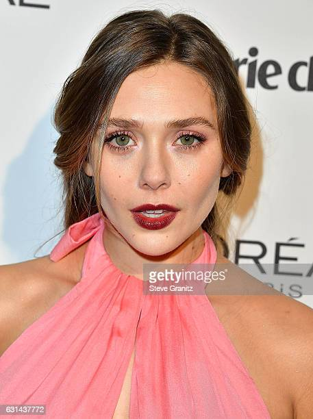 Elizabeth Olsen arrives at the Marie Claire's Image Maker Awards 2017 on January 10 2017 in West Hollywood California