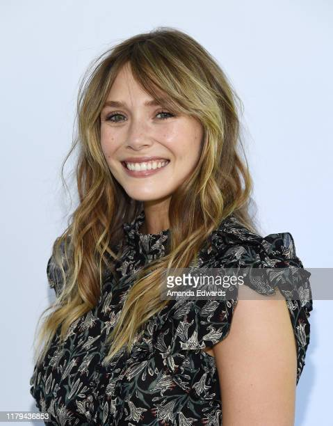 Elizabeth Olsen arrives at The Rape Foundation's 2019 Annual Brunch Benefiting Rape Treatment Center and Stuart House at Santa MonicaUCLA Medical...