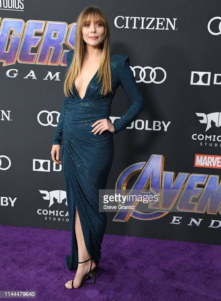 Elizabeth Olsen arrives at the world premiere Of Walt Disney Studios Motion Pictures Avengers Endgame at Los Angeles Convention Center on April 22...