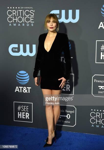 Elizabeth Olsen at The 24th Annual Critics' Choice Awards at Barker Hangar on January 13 2019 in Santa Monica California