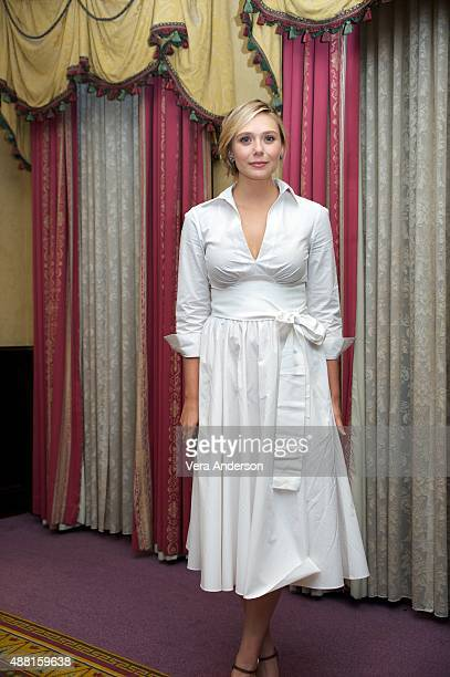 Elizabeth Olsen at the 'I Saw The Light' Press Conference at the Fairmont Royal York on September 11 2015 in Toronto Ontario