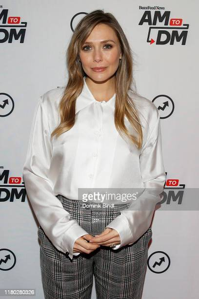 Elizabeth Olsen attends BuzzFeed's AM To DM on October 10 2019 in New York City