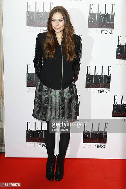 Elizabeth Olsen attends Elle Style Awards Outside Arrivals on February 11 2013 in London England