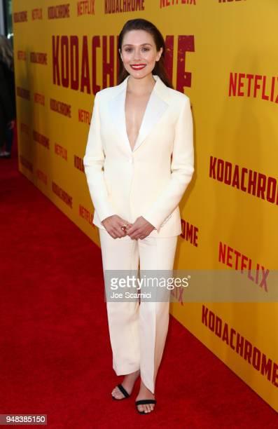 Elizabeth Olsen attends Los Angeles special screening of Netflix's film 'KODACHROME' on April 18 2018 in Hollywood California