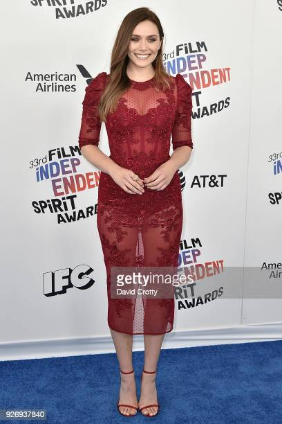 Elizabeth Olsen attends the 2018 Film Independent Spirit Awards Arrivals on March 3 2018 in Santa Monica California