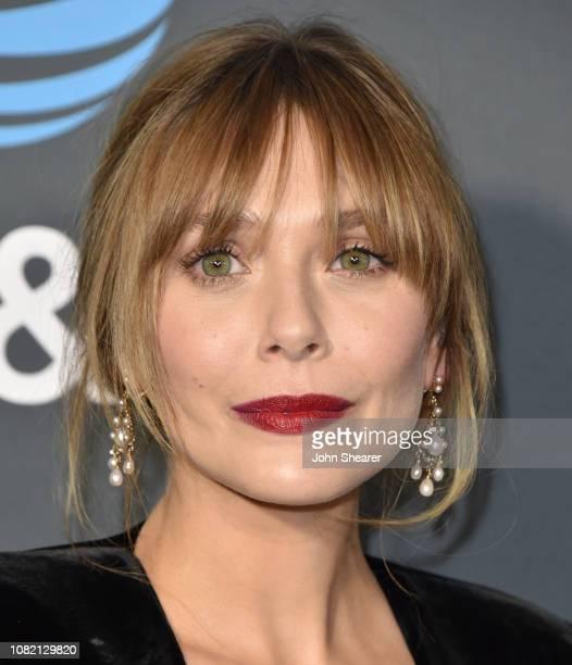 Elizabeth Olsen attends The 24th Annual Critics' Choice Awards at Barker Hangar on January 13 2019 in Santa Monica California