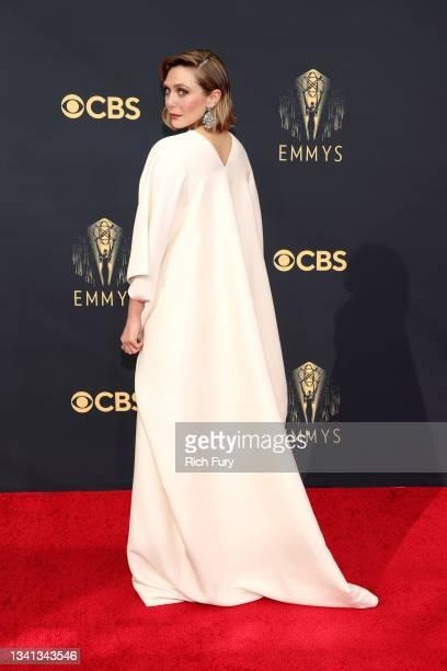 Elizabeth Olsen attends the 73rd Primetime Emmy Awards at L.A. LIVE on September 19, 2021 in Los Angeles, California.