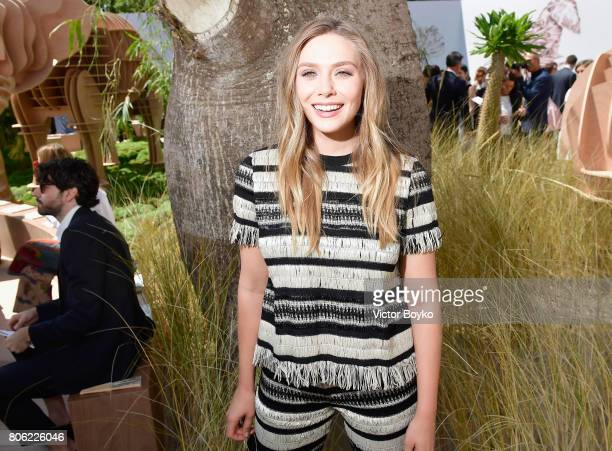 Elizabeth Olsen attends the Christian Dior Haute Couture Fall/Winter 20172018 show as part of Haute Couture Paris Fashion Week on July 3 2017 in...