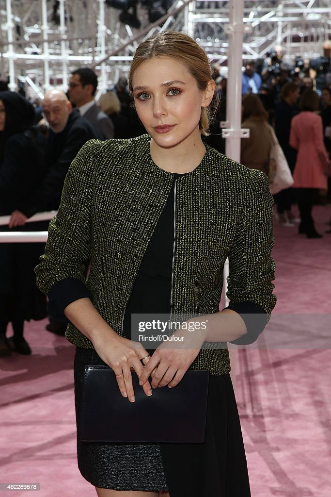 Elizabeth Olsen attends the Christian Dior show as part of Paris Fashion Week Haute Couture Spring/Summer 2015> on January 26, 2015 in Paris, France.