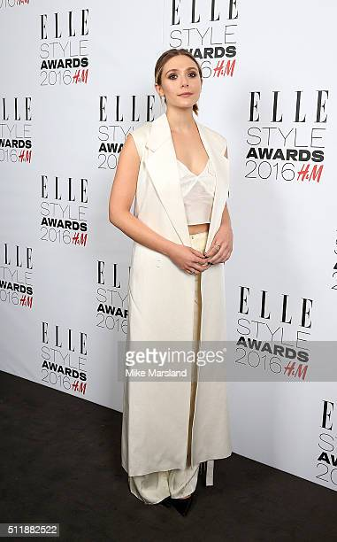 Elizabeth Olsen attends The Elle Style Awards 2016 on February 23 2016 in London England