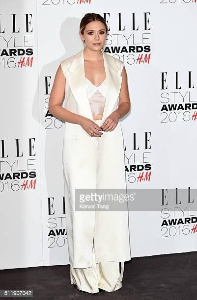 Elizabeth Olsen attends The Elle Style Awards 2016 on February 23 2016 in London England
