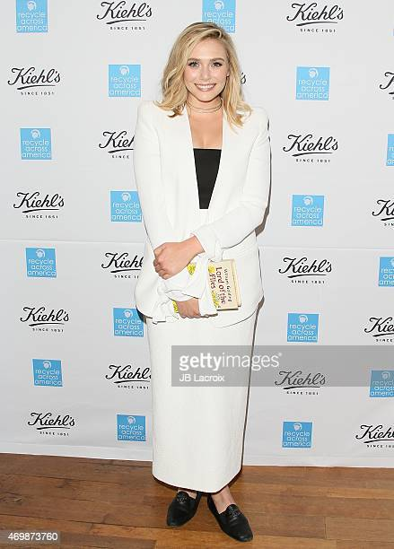 Elizabeth Olsen attends the Kiehl's 2015 Earth Day Project With Elizabeth Olsen And Maggie Q at the KiehlÕs Since 1851 Santa Monica Store on April 15...
