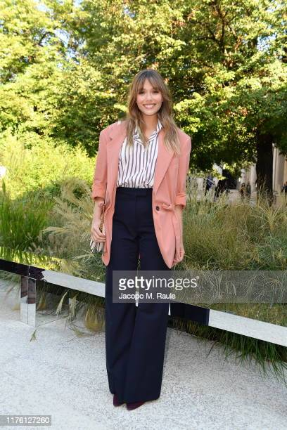 Elizabeth Olsen attends the Salvatore Ferragamo show during Milan Fashion Week Spring/Summer 2020 on September 21 2019 in Milan Italy