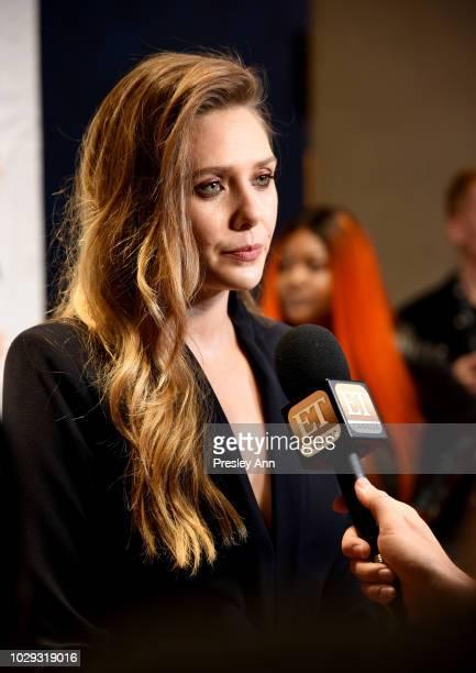Elizabeth Olsen attends the Sorry For Your Loss premiere during 2018 Toronto International Film Festival at TIFF Bell Lightbox on September 8 2018 in...