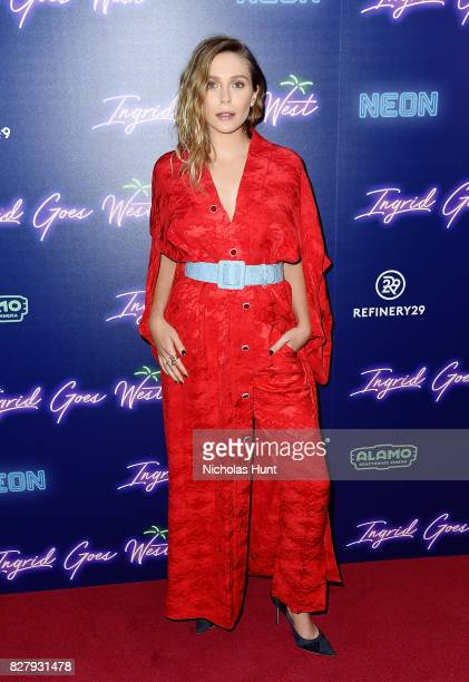 Elizabeth Olsen attends the the New York premiere of 'Ingrid Goes West' hosted by Neon at Alamo Drafthouse Cinema on August 8 2017 in the Brooklyn...