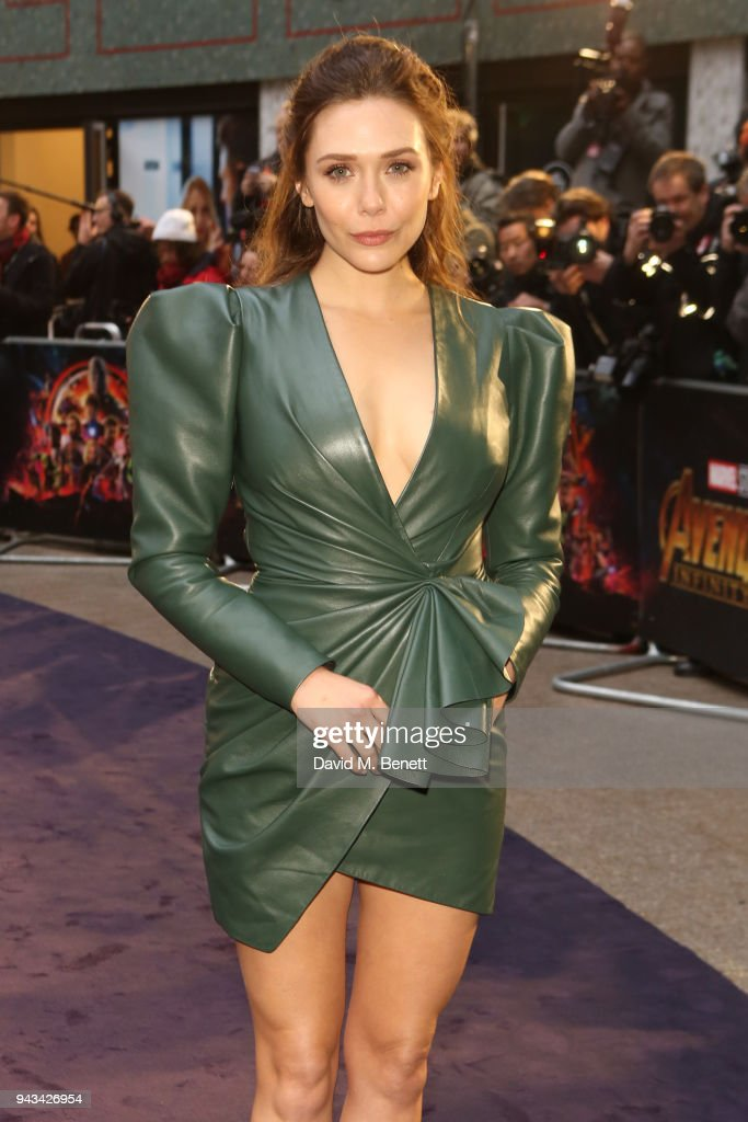Elizabeth Olsen attends the UK Fan Event for 'Avengers: Infinity War' at the Television Studios White City on April 8, 2018 in London, England.