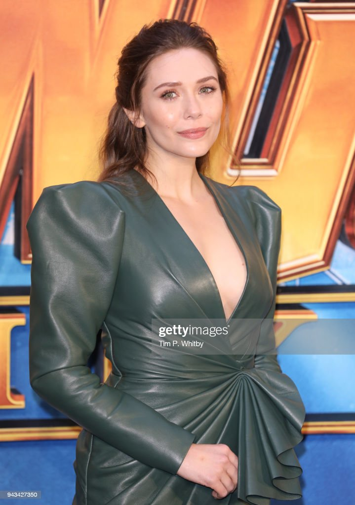 Elizabeth Olsen attends the UK Fan Event for 'Avengers Infinity War' at Television Studios White City on April 8, 2018 in London, England.