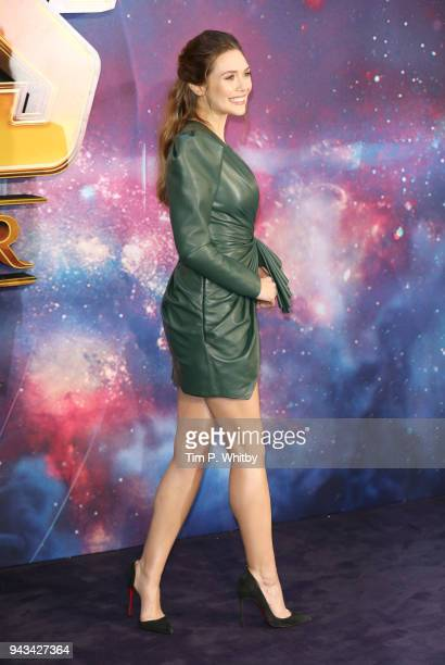 Elizabeth Olsen attends the UK Fan Event for Avengers Infinity War at Television Studios White City on April 8 2018 in London England