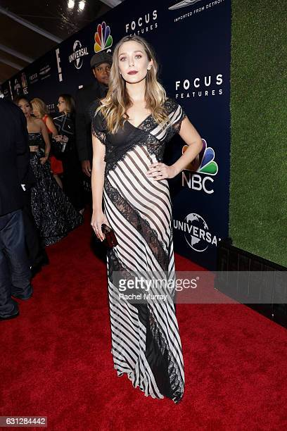 Elizabeth Olsen attends the Universal NBC Focus Features E Entertainment Golden Globes after party sponsored by Chrysler on January 8 2017 in Beverly...