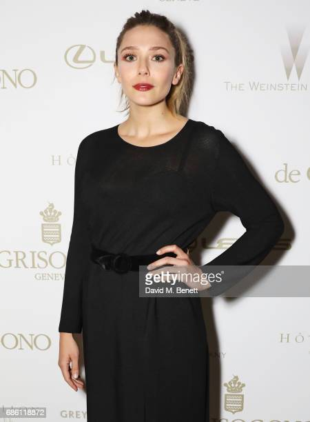 Elizabeth Olsen attends The Weinstein Company party in celebration of 'Wind River' in association with de Grisogono Grey Goose Vodka Hotel de Crillon...