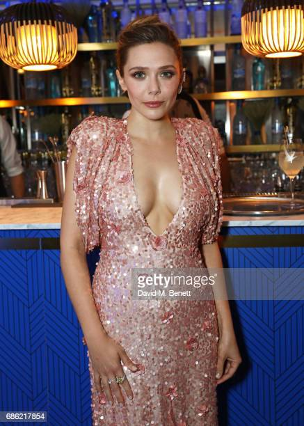 Elizabeth Olsen attends The Weinstein Company prereception of 'Wind River' in association with Grey Goose Vodka de Grisogono and Hotel de Crillon...