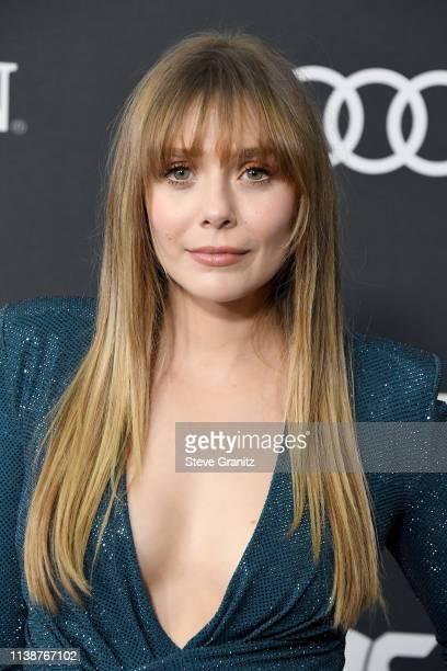 Elizabeth Olsen attends the world premiere of Walt Disney Studios Motion Pictures 'Avengers Endgame' at the Los Angeles Convention Center on April 22...