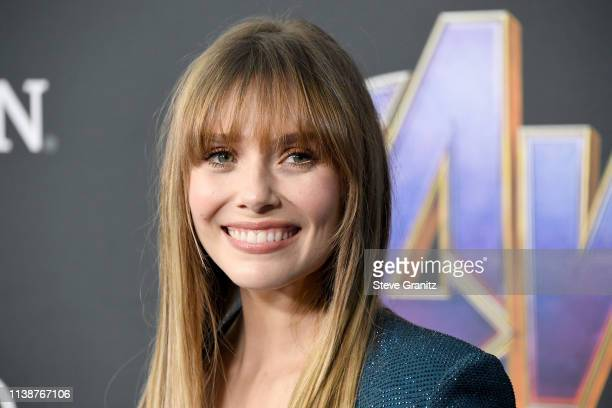 Elizabeth Olsen attends the world premiere of Walt Disney Studios Motion Pictures Avengers Endgame at the Los Angeles Convention Center on April 22...