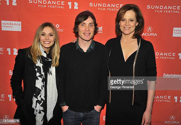 "Elizabeth Olsen, Cillian Murphy, and Sigourney Weaver attend the ""Red Lights"" Premiere at the Eccles Center Theatre during the 2012 Sundance Film..."